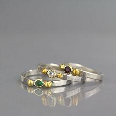 Banda di nozze di smeraldo anello di impilazione di yifatbareket