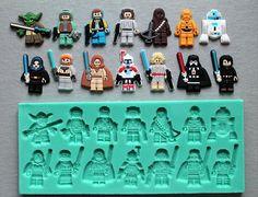 In silicone stampo LEGO HEROES 3 Sugarcraft Cake Decorating Fondant / fimo muffa