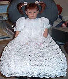 Free crochet pattern for a beautiful christening dress and 1000's of other craft projects at Craftown.
