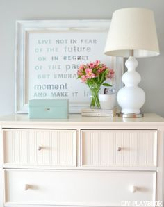This @homegoods table lamp adds more than just light to this bedroom space. It adds plenty of glamour & glitz, and makes us extra #HomeGoodsHappy!  #sponsored