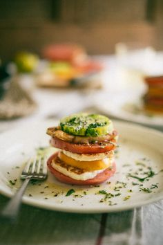 Heirloom Tomato & Haloumi Stacks | Souvlaki For The Soul