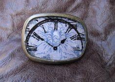 Clock Face Belt Buckle by FeliciaBleuRose on Etsy, $25.00