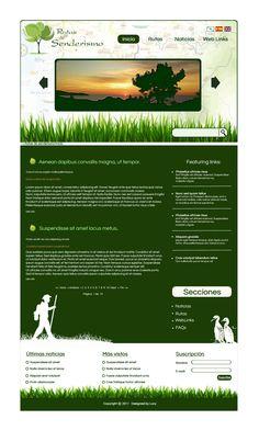 diseño_web para pagina de rutas de senderismo