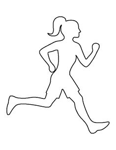 Use the printable outline for crafts, creating stencils, s… - Sport Applique Patterns, Applique Designs, Quilting Designs, Running Drawing, Silhouettes, Sports Painting, Bird Template, Girl Silhouette, Girl Running