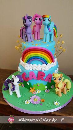 My little pony cake Bolo My Little Pony, Festa Do My Little Pony, My Little Pony Unicorn, My Little Pony Birthday Party, Sparkle Cake, 4th Birthday Cakes, Girl Cakes, Party Cakes, Eat Cake