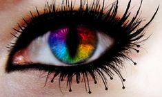 Michaela D. Gorgeous Eyes, Pretty Eyes, Cool Eyes, Beautiful Eyelashes, Cool Contacts, Colored Contacts, Eye Contacts, Rainbow Eyes, Rainbow Snake