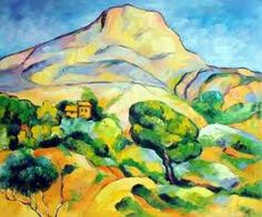 French countryside. Cezanne