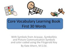 teach 30 core vocabulary words in 3 picture communication symbol sets.