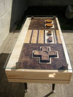 Functional Nintendo controller coffee table.  OMG.
