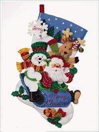 Patrones y Moldes de Botas y botitas para Navidad en Fieltro GRATIS!! | EcoArtesanias.com