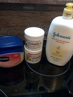 """the BEST home made lotion! """"Made this last night and I can't believe how much my skin has improved in one day."""" Costs about $7-$8 to make. 8oz Vitiman E cream ($3 @ walmart) 8oz Vaseline($2 store brand @Walmart) 16oz Baby Lotion-any scent you prefer ($3-$4 store brand @ walmart) **Mix all ingredients together with an electric mixer and you're done! BEST LOTION EVER"""