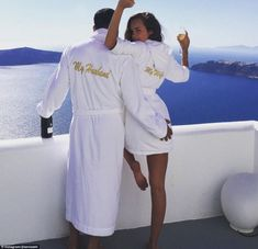 Big spender: The couple, who appear to have met in late 2015, are rumoured to have spent more than one million euros on the wedding
