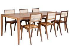 Trama table and Paty chairs Mesa Trama e cadeiras Paty Design Paulo Alves Photo Pierre Refalo