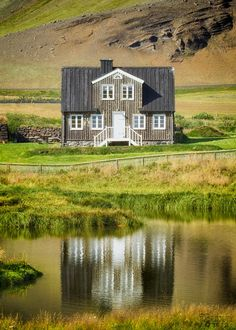 One of the charming homes in the small, picturesque, former fishing village of Arnarstapi, in the northwest of Iceland.
