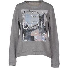 Pepe Jeans Sweatshirt ($97) ❤ liked on Polyvore featuring tops, hoodies, sweatshirts, light grey, pepe jeans london, sweat tops, long sleeve cotton tops, sweat shirts and long sleeve sweatshirt