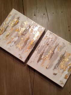 Abstract duo in neutrals and gold by Jenn Meador. Email to order jennmeadorpaint@gmail.com