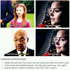 It makes sense....... *sigh* << Moffat strikes again<== I used be surprised that people are able to make these connections ever but after Sherlock and Doctor Who I wait for them