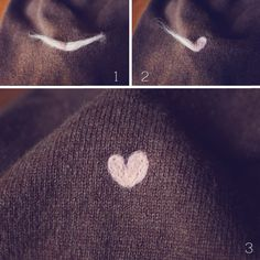 Goodknits tutorial: little wool heart patches. Patch over those moth holes in your favorite sweaters and hats.