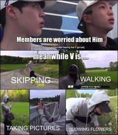BTS Bon voyage ep4 _ BTS V LOL <3 god I love him he takes a bad situation and only see the good in it