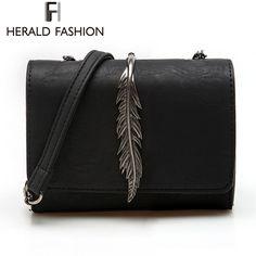 헤럴드 패션 잎 장식 미니 플랩 가방 스웨이드 PU 가죽 작은 여성의 어깨 가방 체인 메신저 가방 가을 새로운 도착