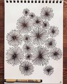 Doodles Flower Drawings Save You can find Sketchbooks and more on our website. Zentangle Drawings, Doodles Zentangles, Doodle Drawings, Easy Drawings, Flower Drawings, Drawing Flowers, Doodle Patterns, Zentangle Patterns, Doodle Designs