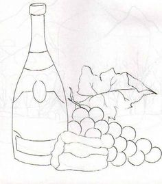 risco+pintura+em+tecido+garrafa+de+vinho+uvas+1.jpg 556×635 pixels