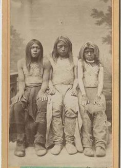 Paiute boys - circa 1870