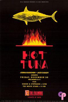Classic Poster - Hot Tuna at Fillmore Auditorium, San Francisco, CA by Marc D'Estout Rock Posters, Concert Posters, Music Posters, Fillmore Auditorium, Jefferson Airplane, Rock Concert, Best Rock, Sound Of Music, Classic Rock
