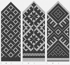 Mustrilaegas: A Kudumine / Many Knitting charts Knitted Mittens Pattern, Knit Mittens, Knitting Socks, Knitting Charts, Knitting Stitches, Knitting Patterns, Crochet Patterns, Weaving Patterns, Craft Patterns