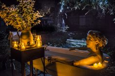 Luxuriating under the stars at Kissing Gate. Rated in world's top 14 glamping sites by TripAdvisor.