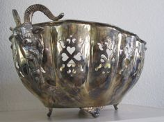 Vintage silver plate centerpiece with Rams by MidModandMorganstern, $80.00