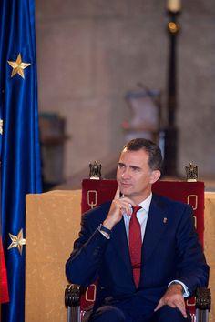 Crown Prince Felipe of Spain attend the 'Principe de Viana' 2014 award on June 4th in Navarra, Spain