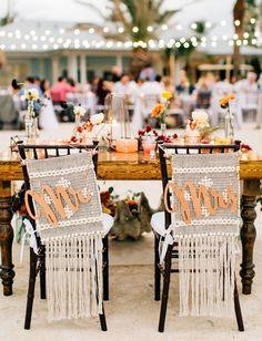 Macrame Chairs The Caribbean Resort Wedding in Islamorada Florida - Jenna Bechtholt Photography Beach Wedding Colors, Boho Beach Wedding, Chic Wedding, Dream Wedding, Beach Wedding Groomsmen, Caribbean Resort, Patterned Chair, Wedding Chairs, Table Wedding