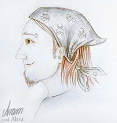 Aram und Abra - Illustrationen und Portraits | Kunstblog und Hundeblog: Vermenschlicht: Doggenmix-Punkrocker-Rico
