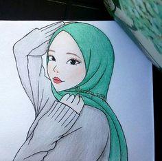 17 En Iyi Kapalı Kız çizimleri Görüntüsü Drawings Hijab Drawing