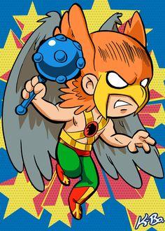 Super Powers Hawkman Art Card by K-Bo. by kevinbolk on deviantART