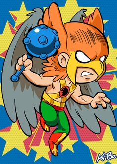 Super Powers Hawkman Art Card by K-Bo. by kevinbolk on deviantART