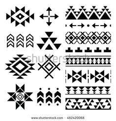 Find Navajo Print Aztec Pattern Tribal Design stock images in HD and millions of other royalty-free stock photos, illustrations and vectors in the Shutterstock collection. Thousands of new, high-quality pictures added every day. Motif Navajo, Navajo Pattern, Navajo Print, Native American Patterns, Native American Design, Native Design, Arte Tribal, Tribal Art, Tribal Prints
