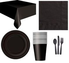 PARTY-TABLEWARE-Plates-Cups-Napkins-Tablecovers-Bags-Balloons-8-Colours
