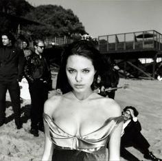 Angelina Jolie photographed by Michel Haddi 1997.