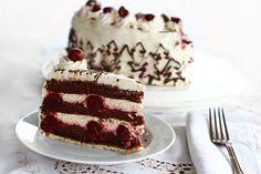 Tort Pădurea Neagră rețetă pas cu pas What You Eat, Vanilla Cake, Cake Decorating, Ethnic Recipes, Desserts, Food, Black Forest, Cherries, Tailgate Desserts