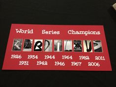 St. Louis Cardinals World Series Picture.