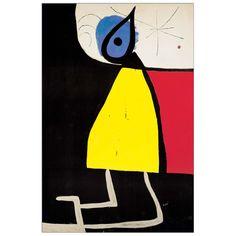 MIRÒ - Woman at night 1973 42x63 cm #artprints #interior #design #art #print #iloveart #followart Scopri Descrizione e Prezzo http://www.artopweb.com/categorie/arte-moderna/EC22008