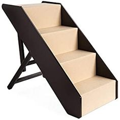 cool Best Choice Products 4-Step Foldable Adjustable, Non-Slip Wide Wooden Pet Stairs for Living Room, Bedroom, Dog & Cat Sizes Small, Medium, Large w/Carpet, No Assembly, Ideal for Injured, Elderly Pets PROMOTES PET HEALTH: These stairs are the perfect aid for small, old, and hurt pets by helping prevent injuries caused by jumping on furniture ADJUSTABLE HEIGHT: Whether you have a small,... Up Dog, Dog Cat, Dog Stairs For Bed, Support Dog, Dog Steps, Pet Gear, Diy Bed, Bed Furniture, Dog Supplies