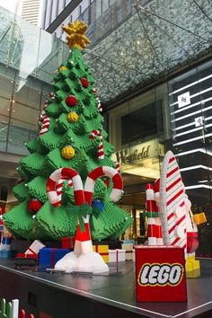 LEGO crazy at your place? The Southern Hemisphere's biggest LEGO Christmas tree has just been built in Sydney, Australia! Here are all the stats, and links to plans to build some LEGO Christmas trees of your own. Lego Christmas Village, Tall Christmas Trees, Christmas World, Christmas 2014, Christmas Pictures, Christmas Tree Decorations, Xmas, Merry Christmas, Christmas Ideas