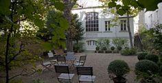 Le magnifique jardin ombragé du musée Eugène Delacroix. 6 rue de Furstenberg, 75006