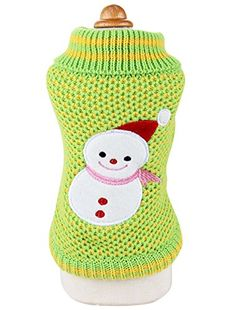 Christmas Uniquorn Fall Winter Pet Clothes Cute Christmas Snow Ball Sweater Poodle Bichon Dog Warm Comfortable Cotton Clothes *** Check this awesome product by going to the link at the image.