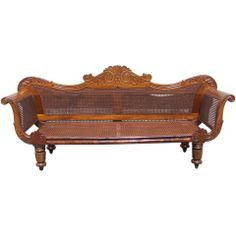 Wonderful West Indies Carved Settee on 1st dibs; $22,500.