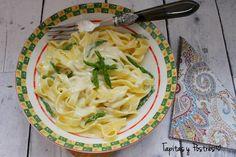 Tagliatelle con salsa de queso azul