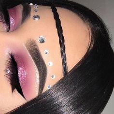 ριntєrєѕt: @αlrєadуtαkєnxσ♡ Rave Eye Makeup, Eye Makeup Art, Prom Makeup, Eyeshadow Makeup, Beauty Makeup, Exotic Makeup, Fairy Makeup, Mermaid Makeup, Maquillage Halloween